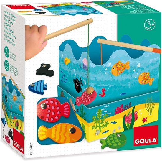 Houten hengelspel; Vissen voor kinderen van 3-6 jaar