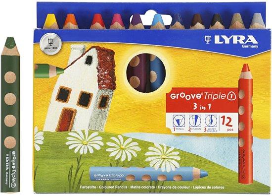 Cadeautjes meisje 3 jaar; Lyra kleurpotloden, potlood, krijt en water oplosbaar