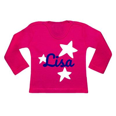 Gepersonaliseerde kraamcadeaus; Persoonlijk shirt bedrukt of geborduurd met naam, tekst of afbeelding