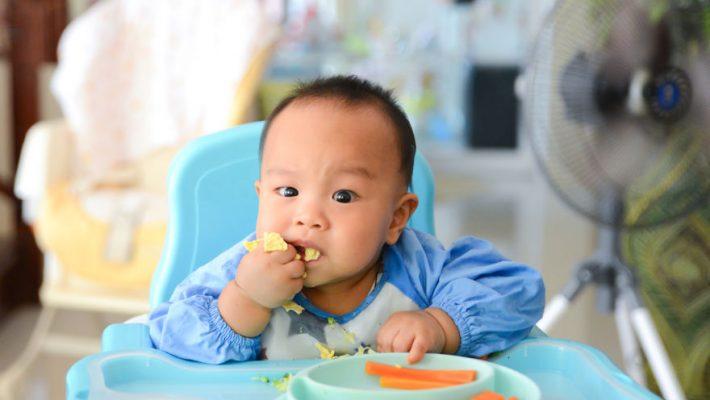 Eerste hapjes via Kleintjes methode; Baby Led Weaning; Stukjes eten