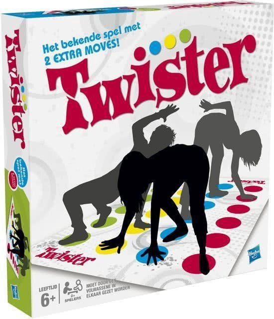 Gezelschapsspel Twister voor peuters, kleuters, kinderen en volwassenen