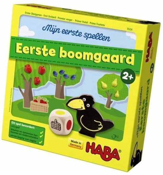 Gezelschapsspel voor peuters eerste boomgaard Haba