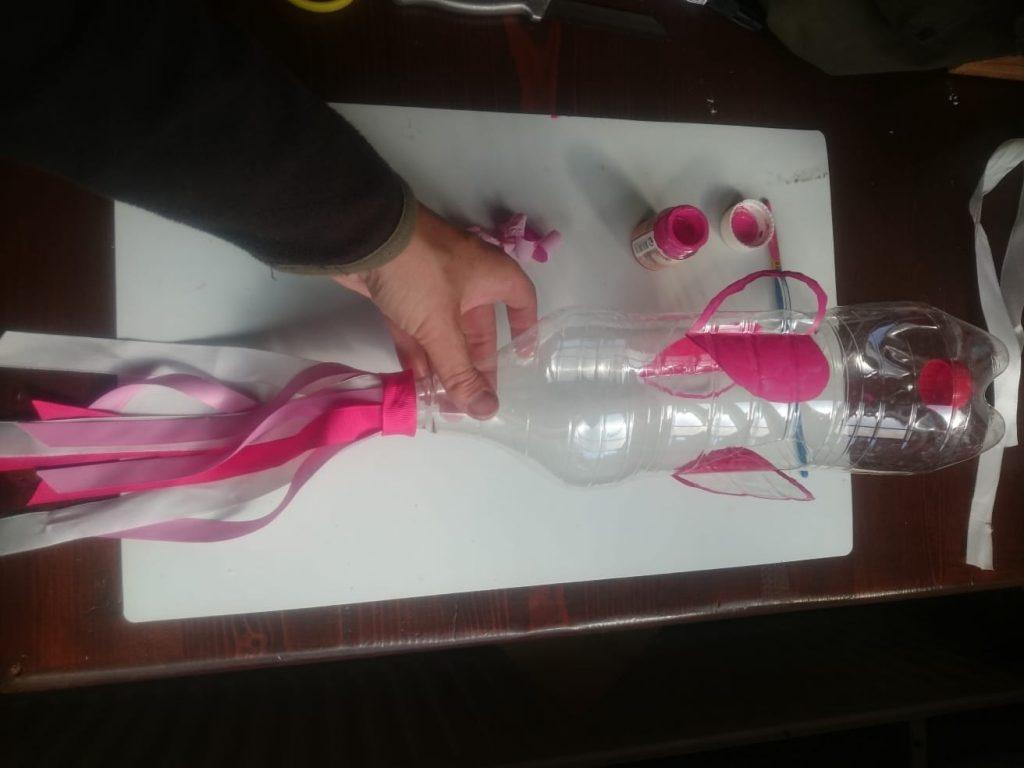 Windmolentje maken van petfles; Knutselen met kinderen