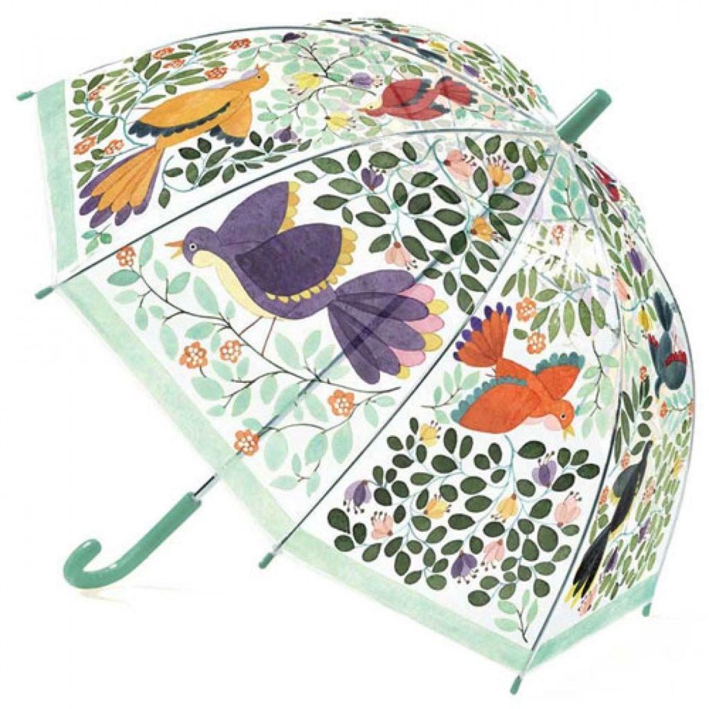 De leukste paraplu's voor kinderen bloemen en vogels