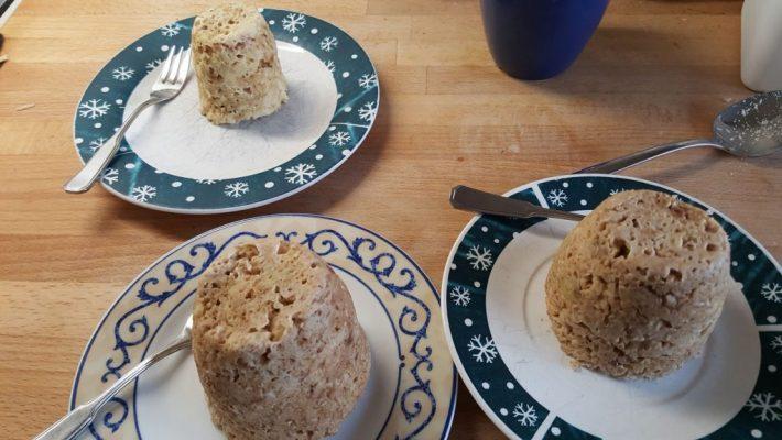 Mug cake havermout banaan ontbijt recept