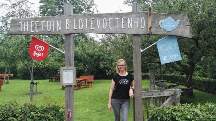 Struuntocht bij theetuin blotevoetenhof te Opende op de grens van Friesland en Groningen;
