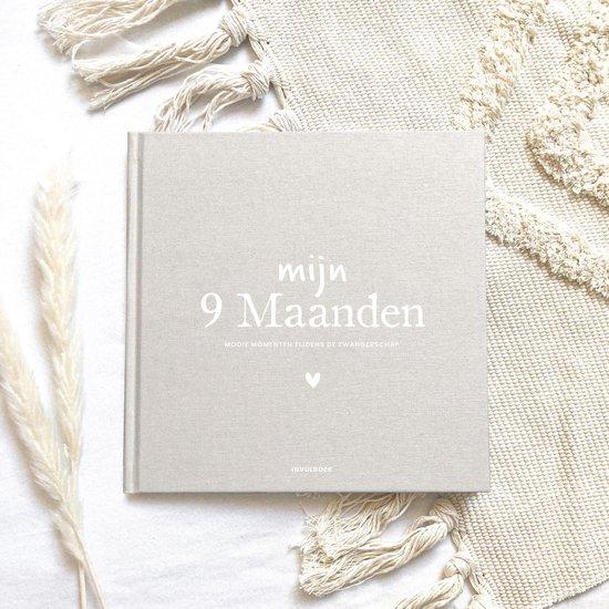 Mijn 9 maanden invulboek zwangerschap linnen