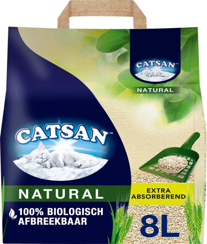 Review Catsan Natural, biologisch afbreekbare kattenbakvulling kopen